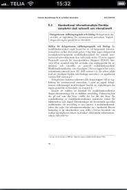 Bild på hur en myndighetsrapport i PDF-format ser ut på telefonen